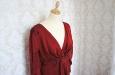 Красное платье из натурального шелка. Фото 2.
