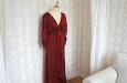 Красное платье из натурального шелка. Фото 3.
