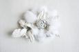 """""""Роза"""" брошь с мехом белой норки. Фото 1."""