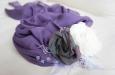 """""""Летнее утро"""" пояс, повязка для волос (фиолетовый). Фото 2."""
