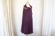 Короткое платье из натурального шелка черничное. Фото 1.
