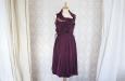 Короткое платье из натурального шелка черничное. Фото 2.