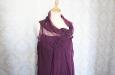 Короткое платье из натурального шелка черничное. Фото 3.
