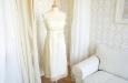 Короткое платье из натурального шелка молочное. Фото 1.