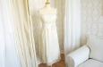 Короткое платье из натурального шелка молочное. Фото 2.