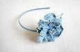 """Голубая камелия"" ободок для волос. Фото 1."