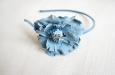 """Голубая камелия"" ободок для волос. Фото 2."