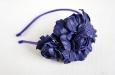 """""""Роза мини синяя"""" ободок для волос. Фото 1."""