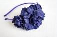 """""""Роза мини синяя"""" ободок для волос. Фото 2."""