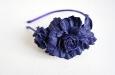 """""""Роза мини синяя"""" ободок для волос. Фото 3."""