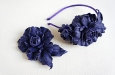 """""""Роза мини синяя"""" ободок для волос. Фото 4."""