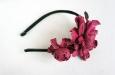 """Роза мини малиновая"" ободок для волос. Фото 2."