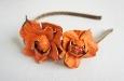 """Камелия """"Парижанка"""" оранжевый, ободок. Фото 2."""