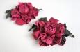 """""""Роза мини малиновая"""" клипсы для туфель. Фото 1."""