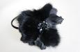 """""""Милен"""" ободок для волос, черная норка. Фото 4."""