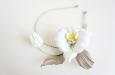 """""""Рокси"""" орхидея с листьями, ободок. Фото 3."""