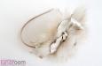 """""""Роза мини"""" с мехом, ободок для волос золотой. Фото 2."""
