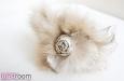 """""""Роза мини"""" с мехом, ободок для волос золотой. Фото 4."""