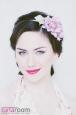 """""""Роза мини"""" розовый, ободок. Фото 1."""