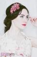 """Камелия розовая"" ободок для волос. Фото 1."