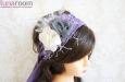 """""""Летнее утро"""" пояс, повязка для волос (фиолетовый). Фото 4."""
