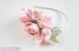 """""""Чайные розы"""" ободок. Фото 3."""
