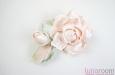 """""""Шелковая роза"""" веточка с бутоном, персиковая. Фото 2."""