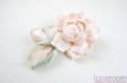 """""""Шелковая роза"""" веточка с бутоном, персиковая. Фото 3."""