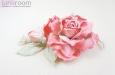 """""""Шелковая роза"""" веточка с бутоном, розовая. Фото 1."""