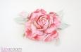 """""""Шелковая роза"""" веточка с бутоном, розовая. Фото 2."""