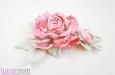 """""""Шелковая роза"""" веточка с бутоном, розовая. Фото 3."""