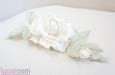 """""""Шелковая роза"""" веточка с бутоном, айвори. Фото 3."""