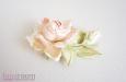 """""""Шелковая роза"""" веточка с бутоном, абрикосовый. Фото 1."""