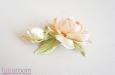 """""""Шелковая роза"""" веточка с бутоном, абрикосовый. Фото 3."""