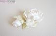 """""""Шелковая роза"""" веточка с бутоном, айвори. Фото 1."""