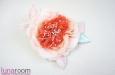 Роза из шелка, корраловый. Фото 3.