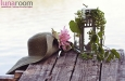 Шляпа с большими полями и цветком. Фото 3.