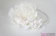 Ободок с розами, вуалью и жемчугом. Фото 1.