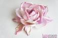 """Роза """"Бэлла"""" брошь-заколка, шелк, лиловый. Фото 1."""