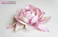 """Роза """"Бэлла"""" брошь-заколка, шелк, лиловый. Фото 2."""