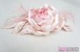 "Роза ""Бэлла"" брошь-заколка, шелк, розовый. Фото 3."