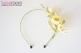 Ободок для волос с лимонными розами, шелк. Фото 2.