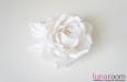 """Бэлла"" роза, шелк белый. Фото 1."