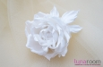 """Бэлла"" роза, шелк белый. Фото 4."