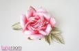 """Шэр"" роза, шелк ярко-коралловый. Фото 1."