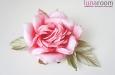"""Шэр"" роза, шелк ярко-коралловый. Фото 2."