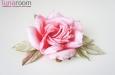 """Шэр"" роза, шелк ярко-коралловый. Фото 3."