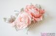 Розы на гребешке, шелк коралловый. Фото 4.