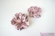 """""""Хризантема розовая"""" клипсы на туфли, кожа. Фото 1."""