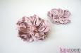 """""""Хризантема розовая"""" клипсы на туфли, кожа. Фото 2."""